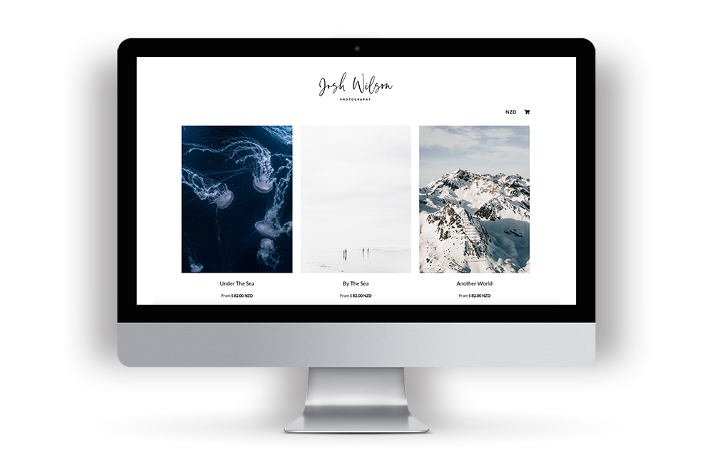 Print Shop Example Website with Josh Wilson Photography's images